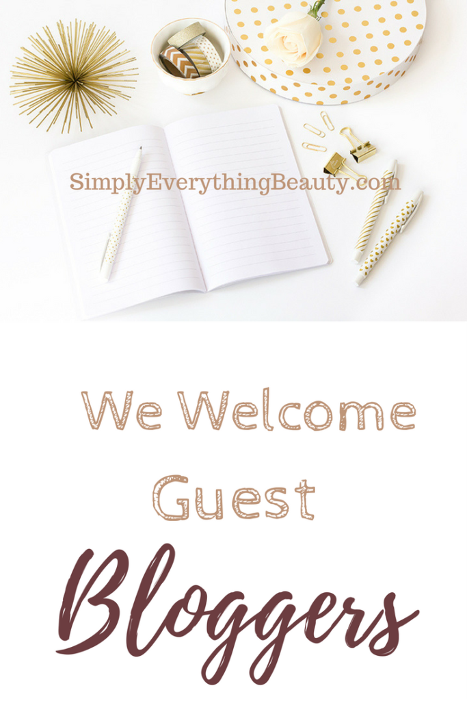 We Welcome Guest Bloggers